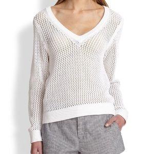Rag & Bone net long sleeve Vneck sweater